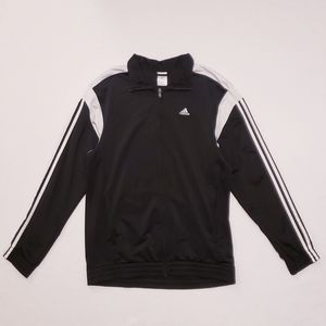 Adidas Black and White Stripe Track Jacket, Size M